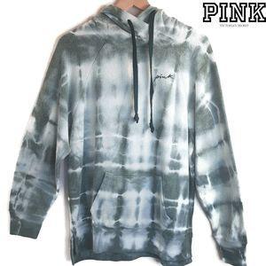 VS Pink Green Tye Dye Super Soft Sherpa Hoodie S